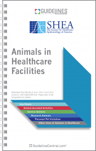 Animals in Healthcare Facilities GUIDELINES Pocket Card