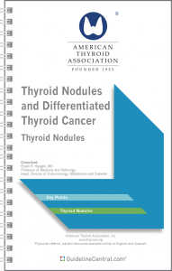 Thyroid Nodules and Differentiated Thyroid Cancer GUIDELINES Pocket Card