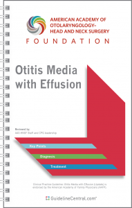 Otitis Media with Effusion GUIDELINES Pocket Guide
