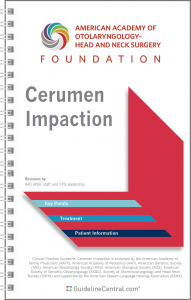 Cerumen Impaction GUIDELINES Pocket Guide
