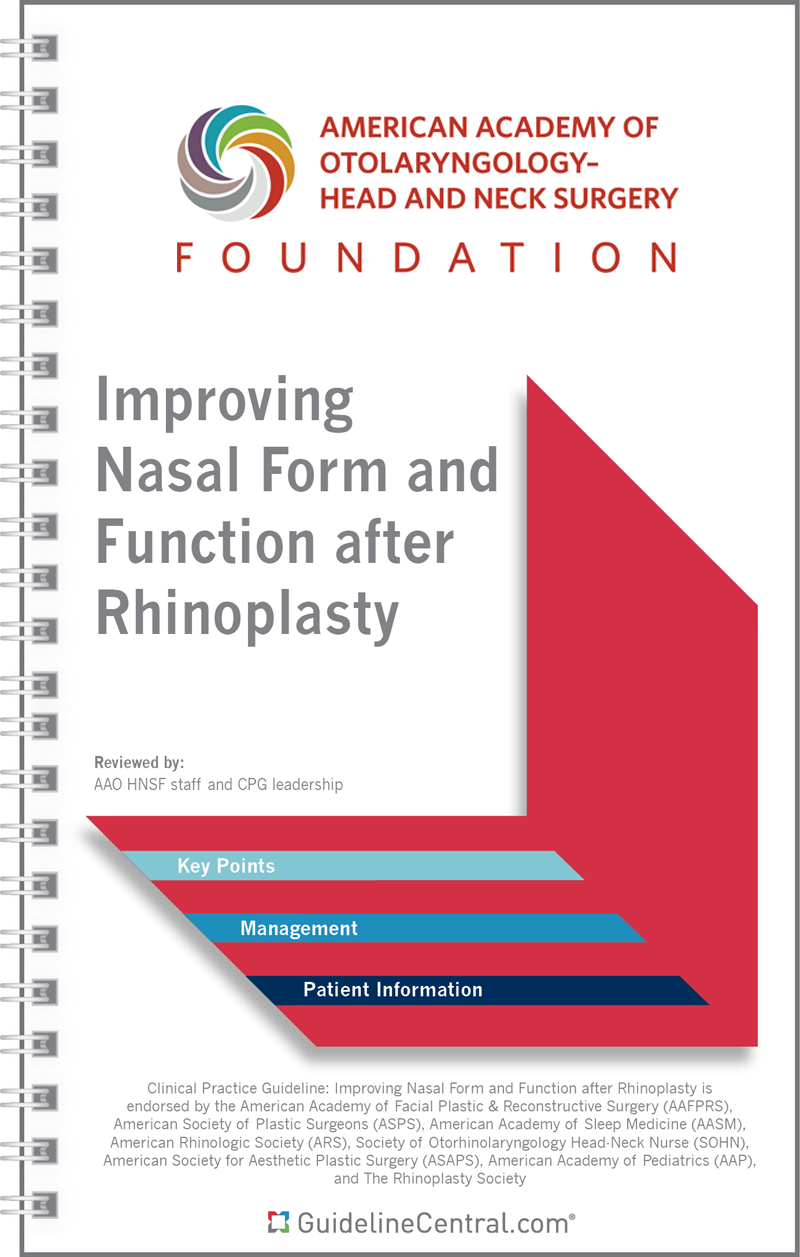 AAO-HNS Rhinoplasty Guidelines Pocket Guide & App