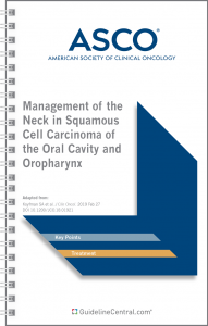 Management of the Neck in Squamous Cell Carcinoma of the Oral Cavity and Oropharynx GUIDELINES Pocket Guide
