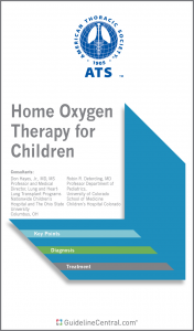 Home Oxygen Therapy for Children GUIDELINES Pocket Guide