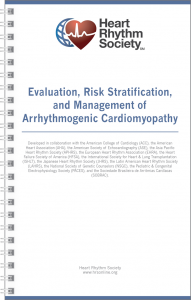 HRS Evaluation, Risk Stratification, and Management of Arrhythmogenic Cardiomyopathy Title Cover