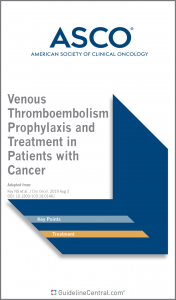 ASCO Venous Thromboembolism Prophylaxis and Treatment in Patients with Cancer Guidelines Pocket Guide Cover