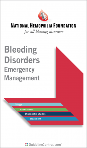 NHF Bleeding Disorders Emergency Management Guidelines Pocket Guide Cover