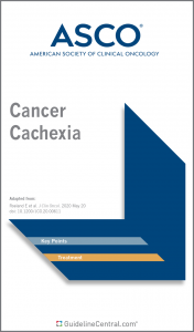 ASCO Cancer Cachexia Guidelines Pocket Guide Cover