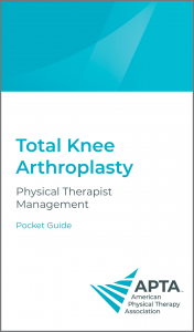 APTA Total Knee Arthroplasty Guidelines Pocket Guide Cover