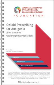 AAO-HNSF Opioid Prescribing for Analgesia Pocket Guide Cover
