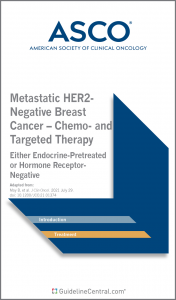 Metastatic HER2-Negative Breast Cancer – Chemo- and Targeted Therapy GUIDELINES Pocket Guide